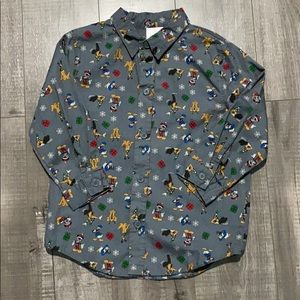 Mickey and Friends Christmas button down